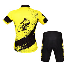 WOSAWE Mens Breathable Cycling Jersey 4D Padded Shorts Breathable Quick Dry