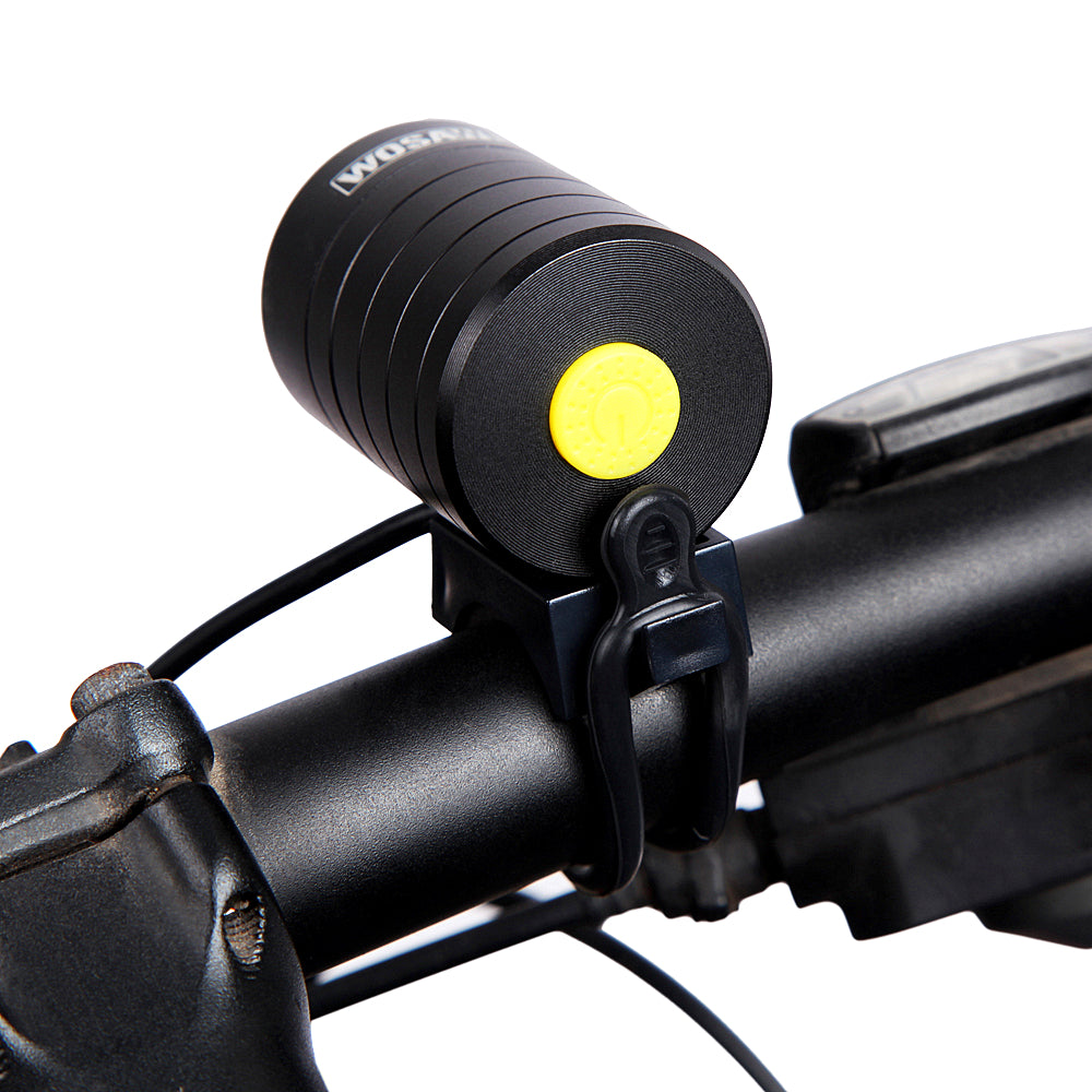 WOSAWE Bicycle Front Light Waterproof LED Cycling Lamp with USB + DV Cable