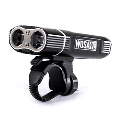 WOSAWE 600 Lumens Bicycle Front Light with 18650 Built-in Batteries USB Rechargeable 5 modes