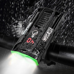WOSAWE USB Rechargeble Bike Front Light 2 LEDs Quick Release Waterproof Cycling Headlight 800 Lumen 5 Modes