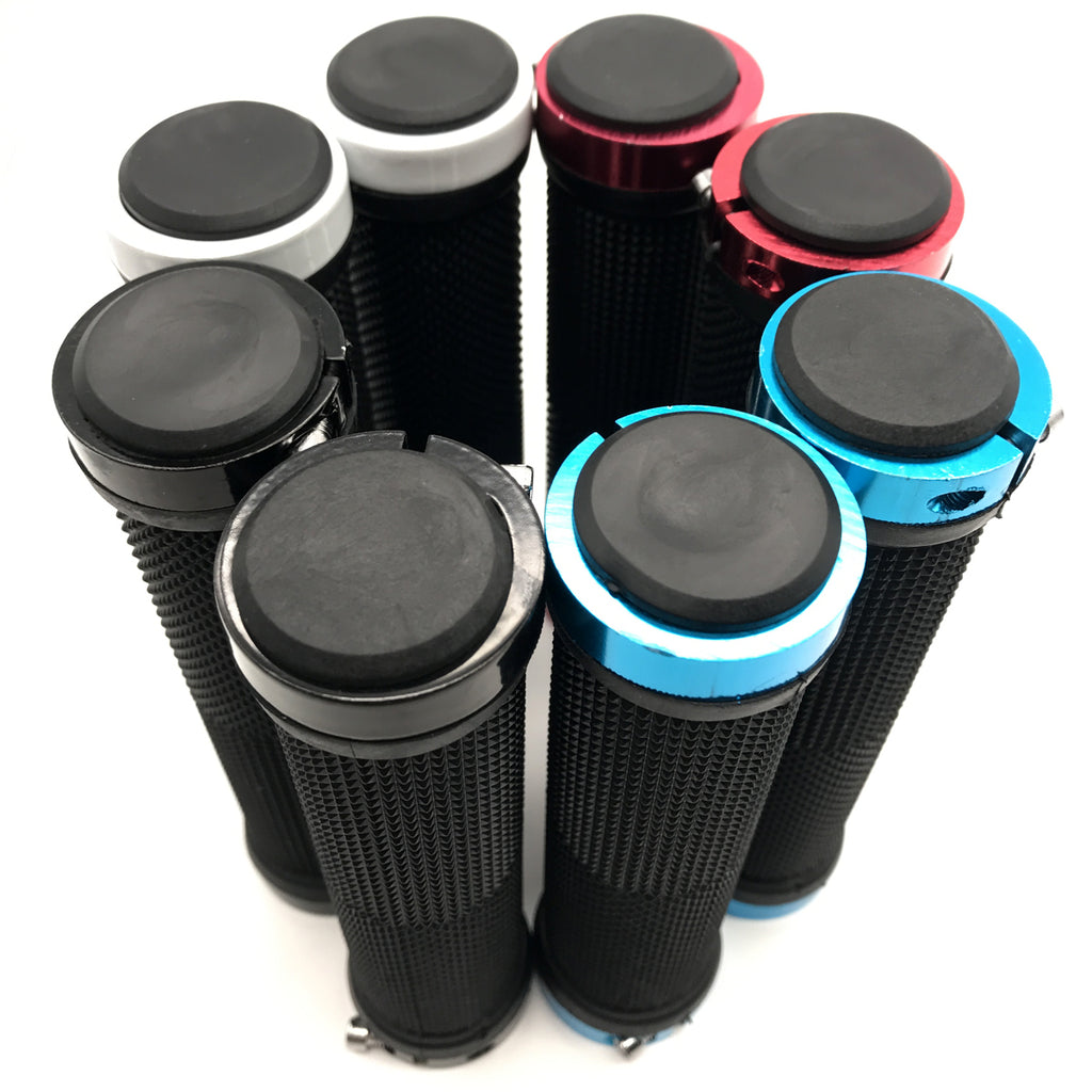 Low Price Bicycle Handlebars Grips Ergonomic Rubber Dual Lock-on Bike Grips