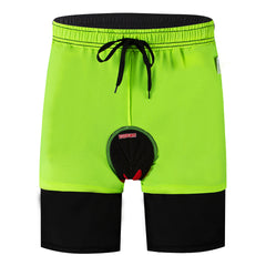 WOSAWE Men's MTB Cycling Padded Shorts Silicone Gel Padded Mesh Liner Bike Shorts