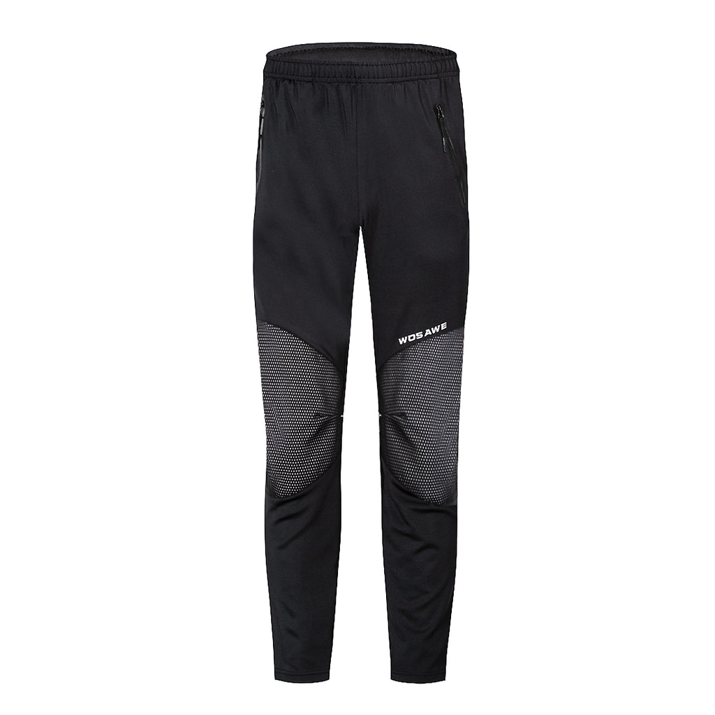 WOSAWE Men's Thermal Fleece Cycling Pants Windproof Outdoor Athletic Pants