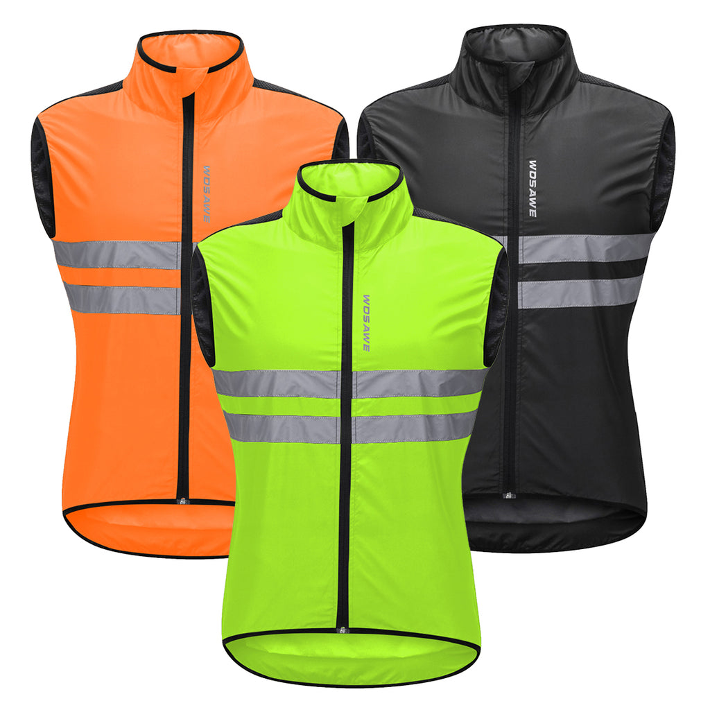 WOSAWE Cycling Waterproof Jackets Reflective Motorcycle Vest