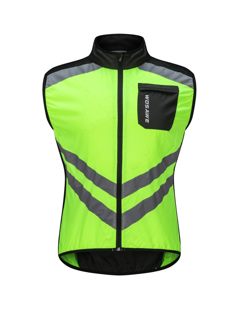 c78ba16c3 Men s High Visibility Cycling Wind Vest Sleeveless Running Reflective  Bicycle Gilet