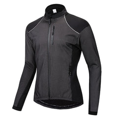 WOSAWE Mens Long Sleeves Cycling Windbreaker Winter Thermal Fleece Bike Jacket