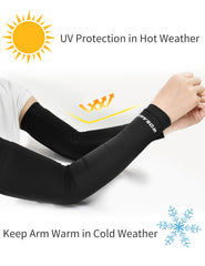WOSAWE Unisex Cycling Arm Sleeves Running Sport UV Protection Armwarmers 1 Pair