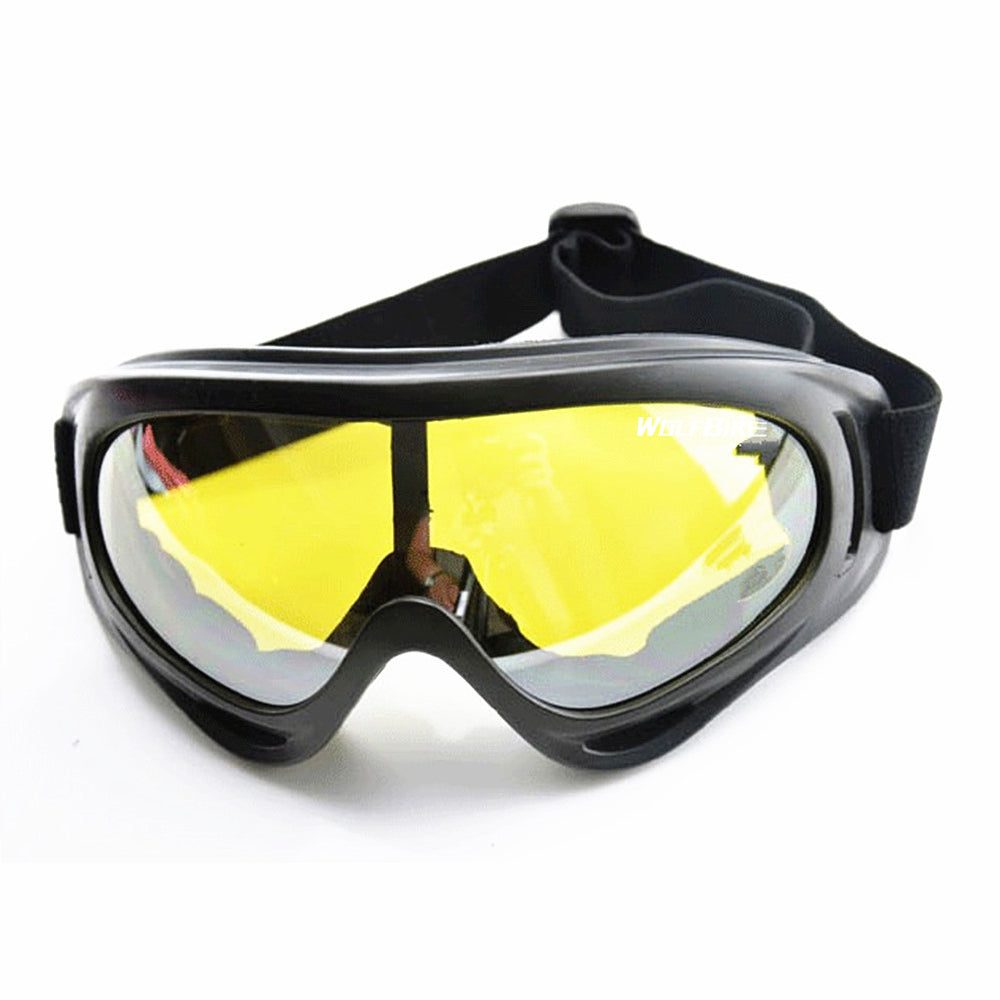 WOLFBIKE Men's Cycling Sunglasses Black frame Ski goggles Outdoor Sport Motorcycle Airsoft Eyewear