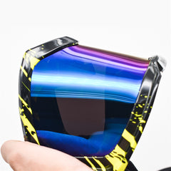 WOSAWE Motorcycle Goggles ATV Goggles Dirt Bike Adult Skiing Glasses with Padded Foam Colorful Frame