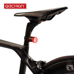 5 LED Bike Tail Light USB Rechargeable Bicycle Rear Light Night Cycling Lamp ST