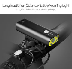 Gaciron Rechargeable Bike Front Handlebar Cycling Led Light 18650 Battery Flashlight Torch Headlight