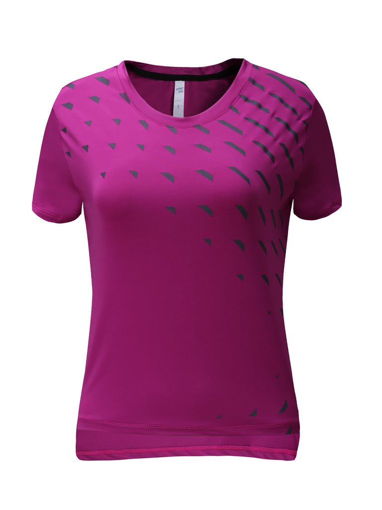 Barbok Workout Shirts Yoga Tops Activewear Running Fitness Short Sleeve Tees for Women