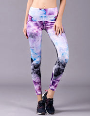 BARBOK Printed Yoga Fitness Workout Leggings for Women