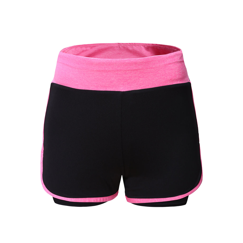 Shop Low Price BARBOK Women's 2 in 1 Running Shorts Lady Training Bottom