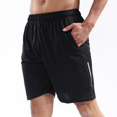 BARBOK Mens Running Activewear Fitness Shorts with Phone Side Zip Pockets