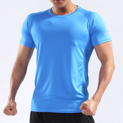 BARBOK Men's Short Sleeve Performance Workout Tee Moisture Wicking Athletic T-Shirt
