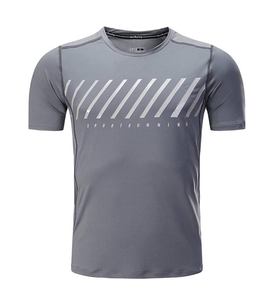 BARBOK Men's Short Sleeve Sport Dri-Fit Tee Quick Dry Running Fitness Shirts