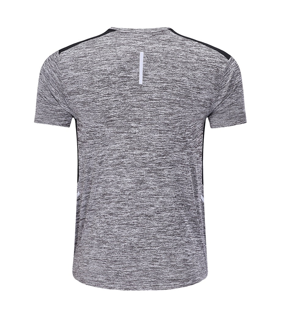 BARBOK Men's Short Sleeve Running Tops Moisture Wicking Athletic Workout Shirts Gym Training Tee