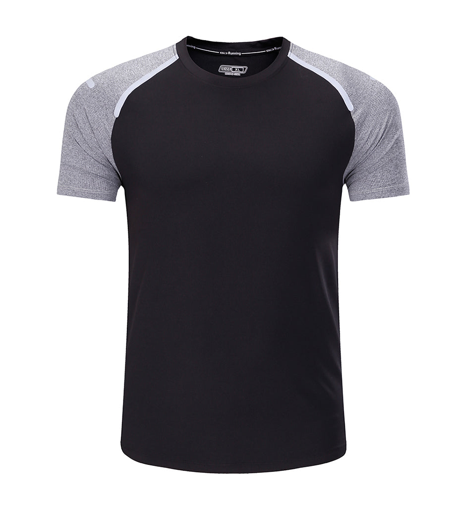 BARBOK Men's Breathable Running Shirts Quick Dry Exercise Active Wear Training T-Shirt
