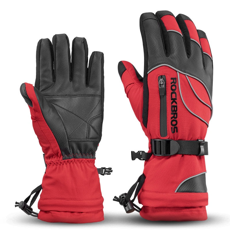 ROCKBROS -40 Degree Winter Cycling Gloves Thermal Waterproof Windproof