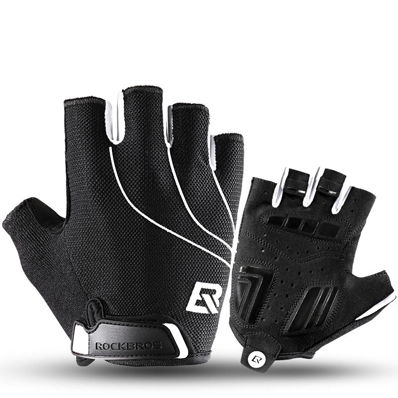 ROCKBROS Bike Half Finger Gloves Anti-slip Breathable MTB Bicycle Gloves