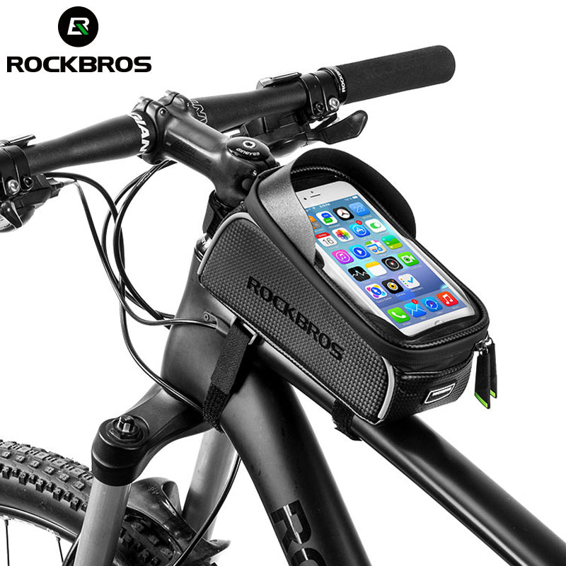 ROCKBROS 6.0 Phone Case Cycling Top Front Tube Frame Bags Waterproof Touch Screen