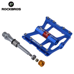 ROCKBROS Bike  Pedals Cycling Ultralight Aluminium Alloy 4 Bearings MTB Pedals