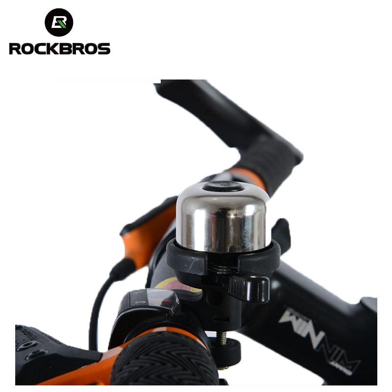 ROCKBROS Bicycle Ring Bell Cycling Ultra-pure Loud Copper Alarm Horns Metal Ring Bells