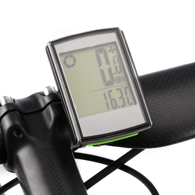 ROCKBROS Waterproof Bicycle Computer LCD Backlight Stopwatch Wireless Speedometer
