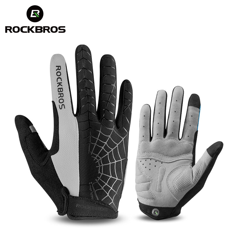 ROCKBROS Windproof Full Finger Cycling Gloves Touch Screen Thermal
