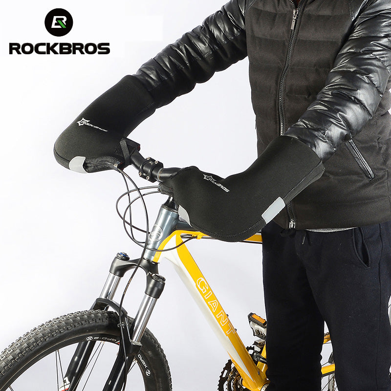 Rockbros Winter Warm Windproof Bicycle Handlebar Cycling Gloves Mittens