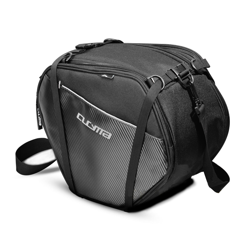Cucyma Scooter Tunnel Bag Sport Motorcycle Gear Bag with Rain Cover