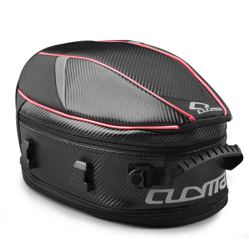 CUCYMA Motorcycle Tail Bag Sport Touring PU Leather Waterproof Motorbike Seat Bag