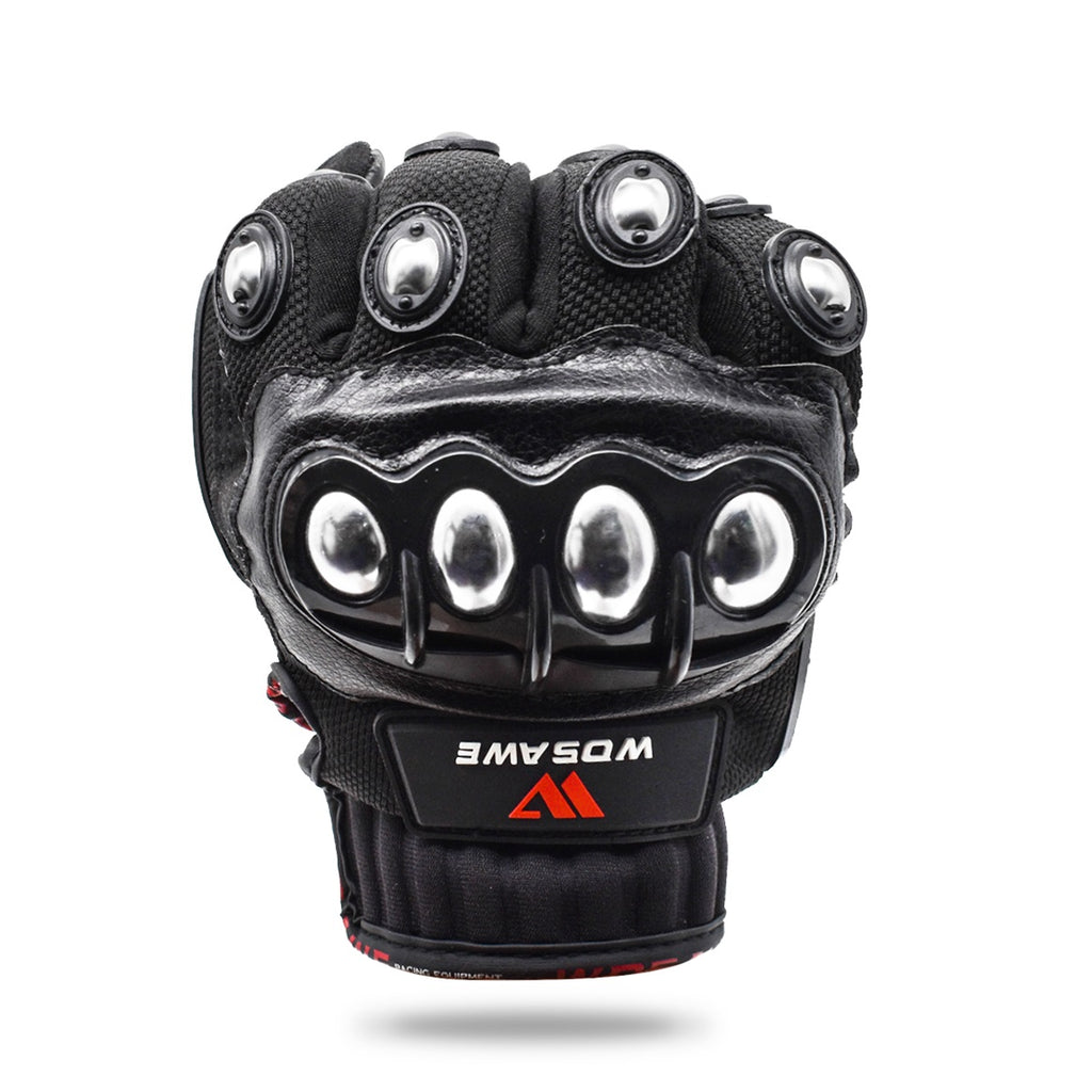 30% Off Deal: Wosawe Alloy Stainless Steel Racing Motorcycling Gloves