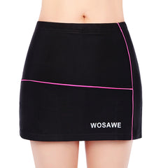 Wosawe Women's outdoor sports mini skirt mountain bike riding skirt shorts