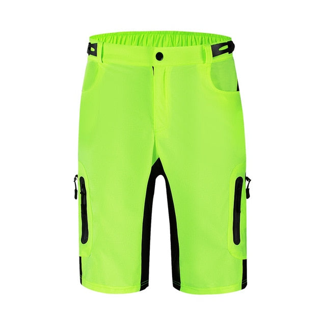 WOSAWE Reflective Cycling Shorts Zipped Pockets Outdoor Sports MTB Mountain Bike Bicycle Riding Short