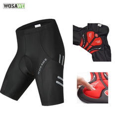 WOSAWE Reflective Padded Cycling Shorts Shockproof MTB Bicycle Shorts Road Bike Shorts Ropa Ciclismo Tights For Men
