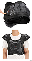 WOSAWE Adult's Back Protector Motorcycle Armor Vest Riding Skiing Skating Spine Racing Skateboard Chest Protector