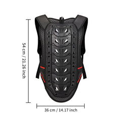 WOSAWE Motorcycle Body Armor Motocross Chest Back Protector Vest Bike Skiing Snowboard Jacket Racing Protective Body Armor