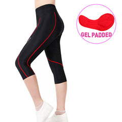 FREE SHIPPING Women 3D Padded  Shorts Breathable ¾ Cycling Tights