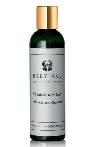 6% Salicylic Face Wash with Activated Charcoal, 4.4 oz.