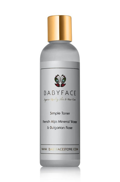 Simple Toner with French Mineral Water & Bulgarian Rose, 4 oz.
