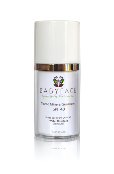 SPF 40 Age-Defying Mineral Sunscreen, Tinted & Non-Tinted Sunblock, 1.9 oz.