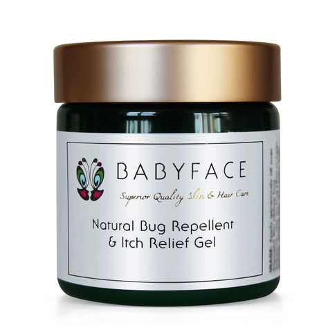 Bug Repellent and Itch Relief Gel, Deet Free, Natural, Organic, 4.3 oz.