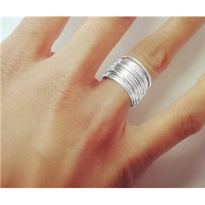 Dramatic 21 Tiny Stackable Rings in Sterling Silver