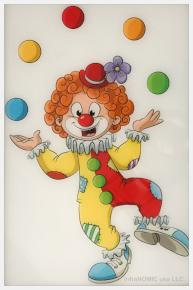Juggling Clown - 2' x 3' Vertical Radiant Heating Panel Fun Juggling Clown.