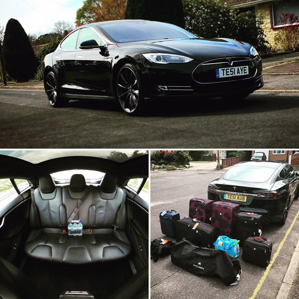 Business Class Tesla to Heathrow