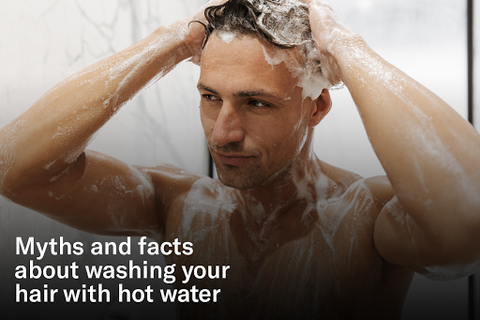 washing hair with hot water