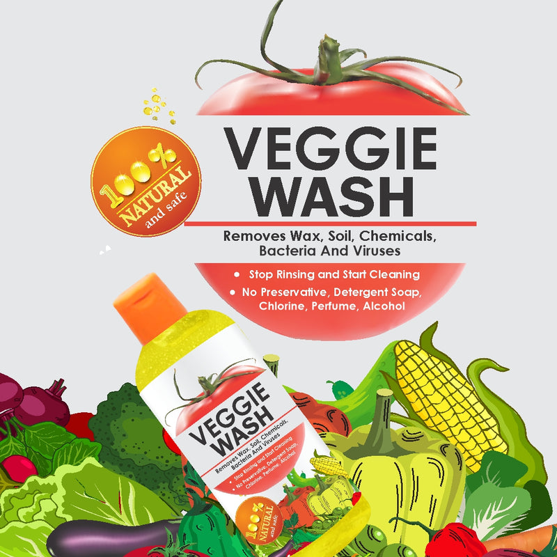 Veggie Wash- Fruit and Vegetable Cleanser | Wash Away Pesticides, Virus & Bacteria, 500ml