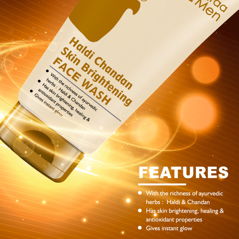 Haldi Chandan Skin Brightening Face Wash, With Turmeric Oil